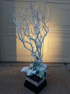 Christmas themed manzanita branches