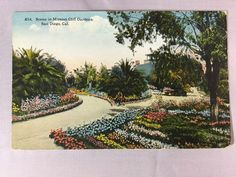 Vintage Mission Cliff Gardens San Diego, CA postcard unposted early 1900s