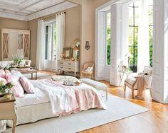 Dormitorios con multitud de detalles románticos. Ideas y fotos de los dormitorios que nuestras decoradoras encontraron más acertados.