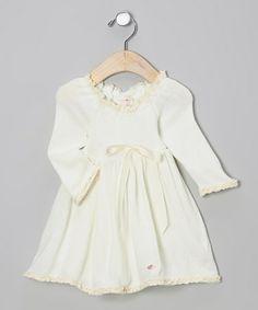 Buttercream Ribbon Sweater Dress - Infant by Élysées Bébé #dress  http://www.zulily.com/invite/jzabrowski188