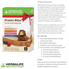 Herbalife Products, Nutrition Club, Protein Bites, Herbalife Nutrition, Fun Size, New Flavour, Guilt Free, Weight Management, Health And Wellness