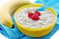 Ovesná kaše na způsob Oatmeal Porridge, Sweet Recipes, Breakfast Recipes, Food And Drink, Pudding, Healthy, Desserts, Fitness, Custard Pudding