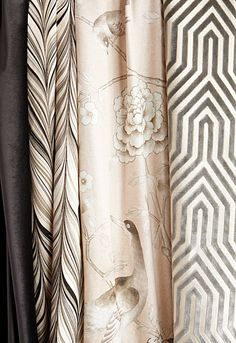 Chinoiserie Chic: Mary McDonald for Schumacher Mary Mcdonald, Passementerie, Elements Of Style, Fabulous Fabrics, Curtain Fabric, Fabric Wallpaper, Soft Furnishings, Home Textile, Fabric Design