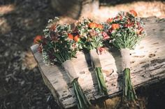 Wildflower Wedding Bouquets.