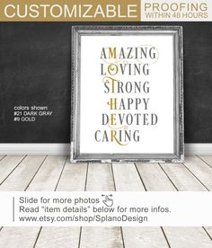 Best Mothers Day Gift From Son Or Daughter Unique Gifts For Mom Gold Gray Wall Art Custom Birthday Printed On Canvas Paper