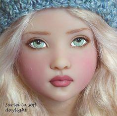 Sariel OOAK Repaint Kish Shea Warrior Angel by Ellen Custom Hat | eBay