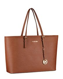 Michael Kors  Jet Set Macbook Travel Tote - anyone know of a bag that's this size, color & leather but NOT expensive? (: