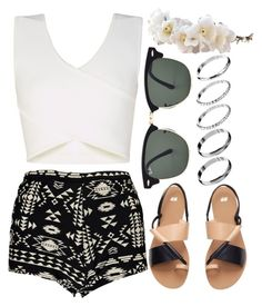 """""""Sin título #510"""" by abigail-silva ❤ liked on Polyvore featuring Boohoo, BCBGMAXAZRIA, H&M, Ray-Ban and ASOS"""