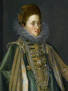 Detail of portrait of Constance of Austria with a monkey by Joseph Heintz the Elder, 1604 (PD-art/old), The Clark Art Institute, from the collection of the Polish Vasas