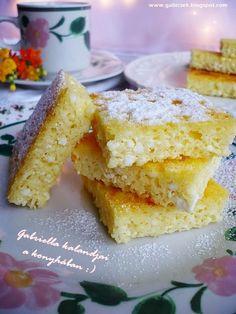 Gabriella kalandjai a konyhában :)mezítlábas túróslepény Hungarian Recipes, Sweet Desserts, Cheesecake Recipes, Cornbread, Christmas Cookies, Bakery, Food And Drink, Cooking Recipes, Sweets