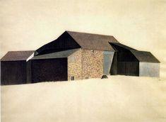 Pennysylvania Farmhouse, 1922, Charles Sheeler, oil on canvas, USA.