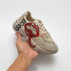c27883bc78d Gucci Rhyton Sneaker With Mouth Print Off White Shoes