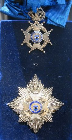 Order of Leopold II Grand Cross set;  sash badge and breast star; Type 1 1900-1908 (Congo Free State).