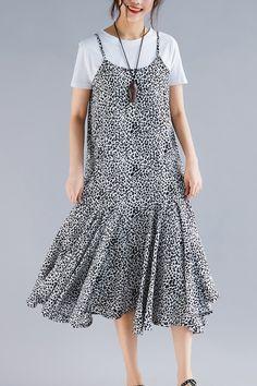 e0d6da5d9a Beach black floral dress stylish Work Outfits Spaghetti Strap robes Summer  Dress