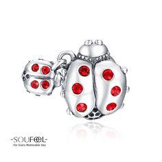 Soufeel Ladybug Charm 925 Sterling Silver Shop->http://www.soufeel.com/ladybug-charm-925-sterling-silver.html