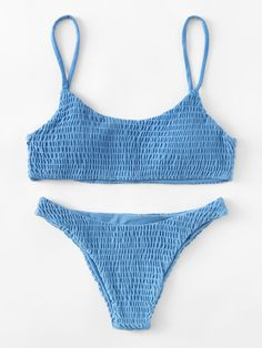 Solyhux Two Piece Solid Color Shirred Bikini Set Swimsuit - Bikinis Bathing Suits For Teens, Summer Bathing Suits, Swimsuits For Teens, Cute Bathing Suits, Baby Bathing, Crochet Bathing Suits, Cute Bikinis, Cute Swimsuits, Summer Bikinis