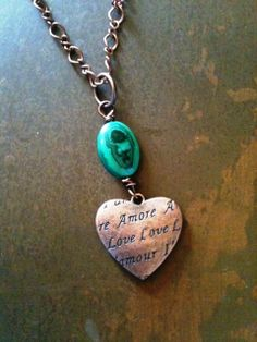Reversible+Amore+Love+Copper+Etched+Heart+and+by+bymichelemohr,+$26.00