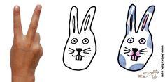 Facile de dessiner une tête de lapin!
