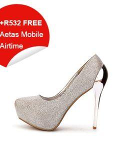 Silver Glossy Textured High Heels Peep Toe, High Heels, Silver, Stuff To Buy, Shoes, Women, Fashion, Moda, Zapatos