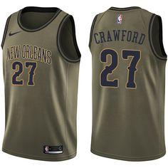898601706 Nike Pelicans  27 Jordan Crawford Green Salute to Service NBA Swingman  Jersey Jordan Crawford