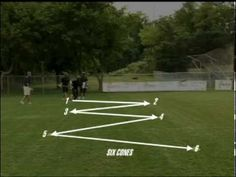 """The zipper drill is a basic dodging drill that will make for crispier moves on the field, courtesy of US Lacrosse's """"Core Skillz"""" series."""
