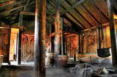 Viking village hall - longhouse interior