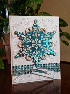 Stamp This- Christmas card using Stampendous stamps and die on metal from Add A Little Dazzle. By Jamie Martin  #cre8time