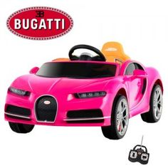 Perefect for glamourous girls - Pink Bugatti Ride on Car!
