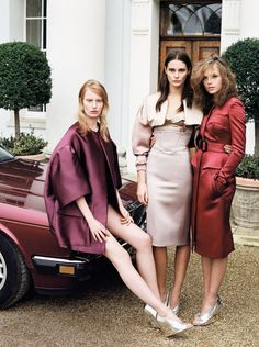 Edie Campbell, Jourdan Dunn + others   British Vogue, February 2013.