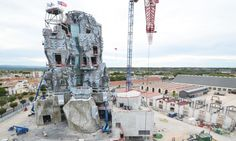 Frank Gehry's tower at LUMA Arles is taking shape on the 16-acre site in France.