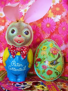 Easter Art, Peter Cottontail, Tin Toys, Vintage Easter, Rabbits, Playground, Old Things, Bunny, Decorations