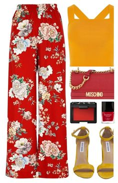 """""""The Legend of the Blue Sea"""" by annaclaraalvez ❤ liked on Polyvore featuring River Island, Steve Madden, Moschino, NARS Cosmetics and Butter London"""