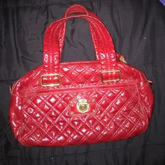 red Marc Jacobs purse never used before, gold metals Marc Jacobs Bags Mini Bags
