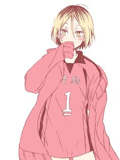 Why are you wearing Kuroo's jersey ͡° ͜ʖ ͡° draw, kozume kenma, manga, anime boy, nekoma Kenma Kozume, Kagehina, Haikyuu Fanart, Haikyuu Ships, Haikyuu Anime, Hinata, I Love Anime, Cute Anime Boy, Kuroko