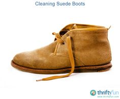 This is a guide about cleaning suede boots. The nap on suede boots and shoes can make cleaning them more difficult than shoes with a smooth leather finish.  I actually tried the cornstarch technique with good results. After applying and smoothing cornstarch over an oil stain and leaving overnight, then brushing it off in the morning... I applied a little more with a toothbrush, scrubbing on the spots that were still there, until they finally faded away. Voila!!!