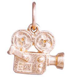 14K Pink Gold Movie Camera Mini Charm