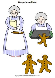 "FREE Story Props for ""The Gingerbread Man"" (fox version)"