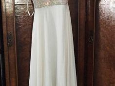 Items For Sale: Beautiful White Chiffon Jovani Dress- WINNER http://ift.tt/1T2736Z