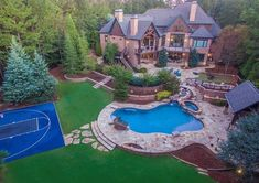 Georgia Homes For Sale, Looking For Houses, Outdoor Rooms, Outdoor Decor, Grand Foyer, Million Dollar Homes, Swimming Pools Backyard, House Elevation, Pool Houses