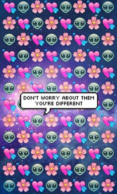 Cute Pink Cell Phone Wallpaper Emoji Background Colour Pink Purple Blue Green Tumblr