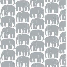 Elefantti Wachstuch - grau - Finlayson