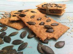 Tökmagropogós Healthy Treats, Healthy Recipes, Paleo, Meals, Cookies, Food, Diet, Glutenfree, Crack Crackers