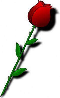 Rose Red Flower clip art