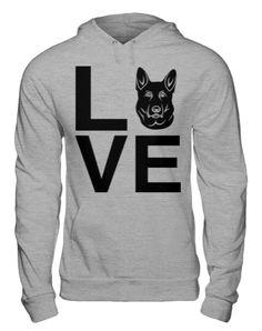 Black German Shepherd Love Hoodie