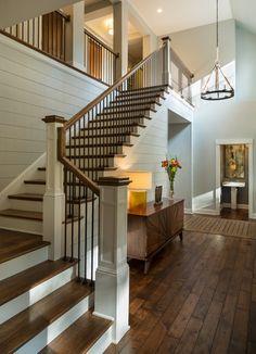 Staircase, floor, upper hallway, lower hallway.