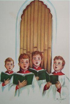 Choirboys at Christmas.