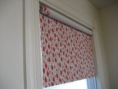 Diy fabric roller shade one room challenge week3 spray glue fabric covered roller shade i like that she solutioingenieria Images