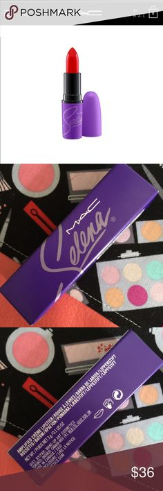 MAC Selena Lipstick Como La Flor *NEW* MAC Selena Lipstick Como La Flor. Sold out everywhere. Will accept offers! MAC description:  Formulated to shade, define and showcase the lips. Three hues, three textures. The iconic product that made M∙A∙C famous. Specially packaged in purple featuring Selena's signature in lavender. Amplified: cream finish Glaze: shiny finish Matte: matte finish MAC Cosmetics Makeup Lipstick