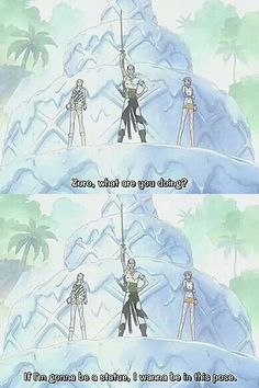 Anime/manga: One Piece Characters: Vivi, Zoro, and Nami, that's what I would totally do if I was in that situation.