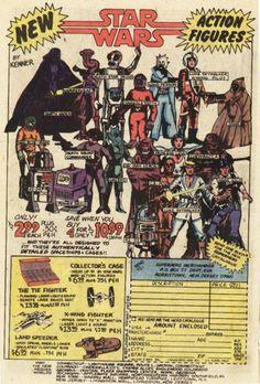Old school Star Wars figures ad